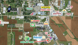 Dollar Tree Jerseyville IL map 2